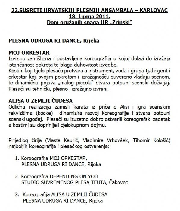 Hrvatski sabor kulture, lipanj 2011.
