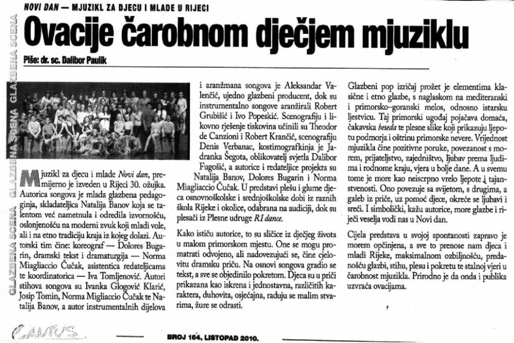 Cantus, listopad 2010.